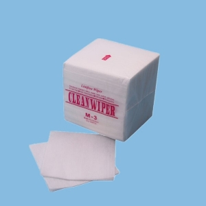 1/4 Fold Lint Free Viscose Polyester M-3 Cleanroom Wipes