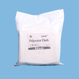 "100% Polyester Cleaning Cloth, Anti-Static Cleanroom Wipers , 9""x9"" White"