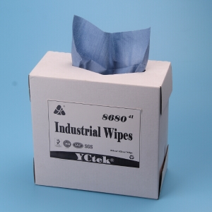 Blue Non Woven Fabric General Cleaning Wipes With Extra Absorbency