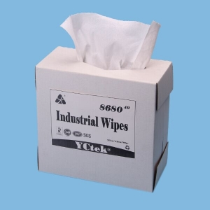 China Supplier 70% Woodpulp 30% PP Cleaning Wipes for Industrial