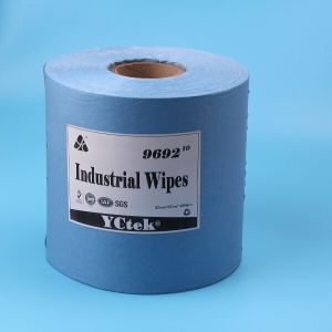 China Supplier General  Cleaning Wipes With Wood Pulp And Polyester In Blue