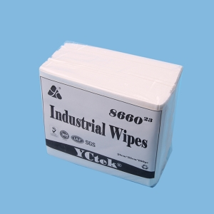 China Supplier Non woven Fabric PP Wood Pulp Lint Free Industrial Cleaning Wipes