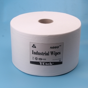 China Supplier Wood Pulp Pp Spunlace Non-Woven Fabric Industrial Cleaning Wipe