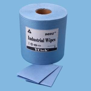 Eco friendly 55% Wood pulp 45% Polyester Spunlace Nonwoven Industrial Wipes