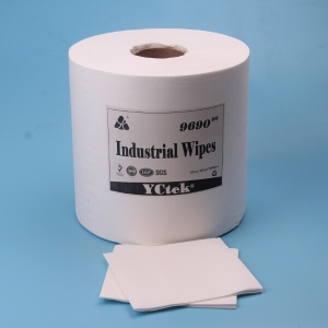 Embossed 55% Wood Pulp And 45% Polyester Industrial Cleaning Wipes