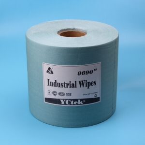 Embossed Industrial Wood Pulp And Polyester Cleaning Wipes