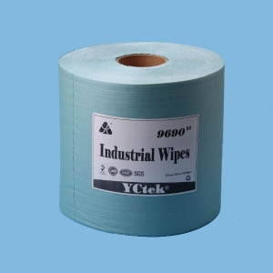 Hot Sales 55%Woodpulp+45%Polyester Nonwoven Cleaning Industrial Roll