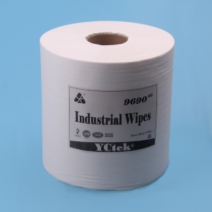 Industrial Multi-Purpose Towels, Embossed 1-Ply, Poly Tissue, White (Roll of 500)