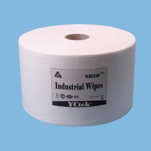 Jumbo Roll,Disposable White Wood Pulp/PP  Lint Free Nonwoven Fabric Cleaning Wipers