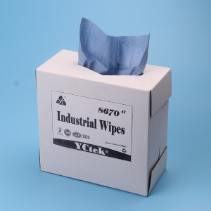 Multipurpose Cleaning For Industrial Woodpulp And Polypropylene Cleaning Wipes