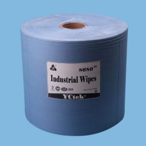 Woodpulp Polypropylene Blue Roll Spunlace Industrial Cleaning Wiper