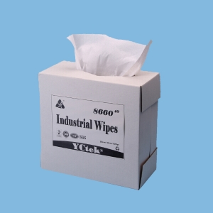 "Wipe Clean 9.1""x 16.8"" Nonwoven YCtek60 White Box 126 Sheets."
