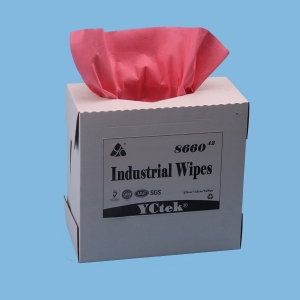 "YCtek60 red high absorbency  9.1""x 16.8""  industrial wiper"