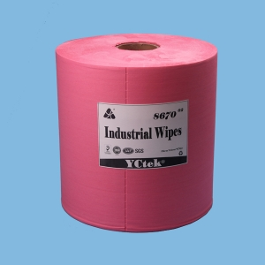 YCtek70 Jumbo Roll industrial wipes, Red, 870 Sheets/roll