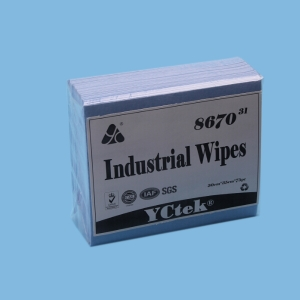 YCtek70 PP Wood Pulp Embossed Nonwoven Industrial Cleaning Wipes,100pcs/bag
