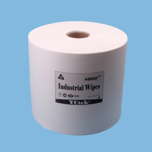 YCtek60 Reusable Wipers, White, Jumbo Roll, 1100 Sheets / Roll, 1 Roll / Case