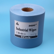 China Spunlace Non woven Blue Industrial Cleaning Roll Wipes factory
